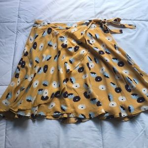 Urban Outfitters Yellow Wrap Skirt